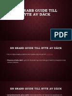 En Snabb Guide Till Byte Av Däck