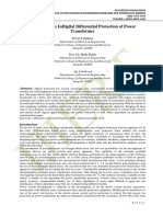 Recent Trends InDigital Differential Protection of Power Transformer
