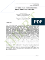 SINGLE‐PHASE TO THREE‐PHASE DRIVE SYSTEM USING TWO PARALLEL SINGLE‐PHASE RECTIFIERS
