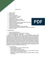 Historia Clínica de Cirugía II Dr. Del Carpio