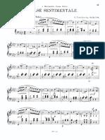 Tchaikovsky - Valse sentimentale page 1