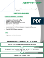 Electrical Engineer Job Ad
