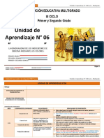 Unidad de aprendizaje N° 6 III ciclo Multigrado 2014