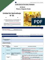 Unidad de aprendizaje N° 5 III ciclo Multigrado 2014