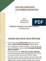 NILAI-NILAI RELIGIUS - KARAKTER.ppt