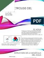 La Electrolisis Del Agua