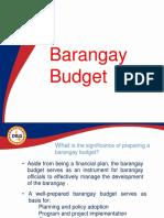 Barangay Budget PPT