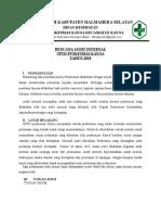 Rencana Audit Internal Pelatihan
