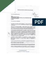Renzo Reggiardo justificó con esta carta su ausencia al debate municipal