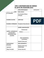 Organización y Distribución de Tareas Para El Acto de Colación 2013