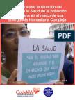 Informe Derecho a La Salud en La EHC Venezuela Codevida Provea Septiembre 2018, por Codevida