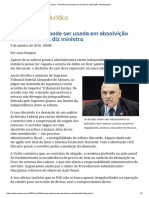 ConJur - Decisão Penal Pode Ser Usada Em Absolvição Administrativa