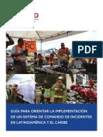 Guía para orientar la implementación de un sistema de comando de incidentes en latinoamérica y el caribe