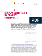 Le « Grand Remplacement » est-il un concept complotiste ?