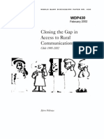 Clossing the Gap in Access to Rural - World Bank