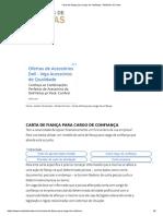 Carta de Fiança Para Cargo de Confiança – Modelos de Carta