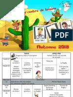 Programme Automne
