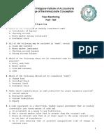 Peer Mentoring PostTest