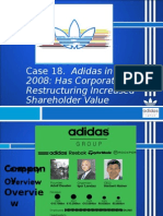 adidas in 2009 has corporate restructuring increased shareholder value Corporate restructuring in case of reliance industries increase shareholder value and work more up #2 adidas in 2009: has corporate restructuring.