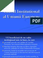 Cadrul Institutional Al Uniunii Europene