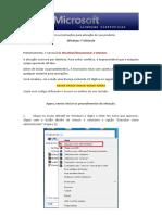 Instruções de Ativação - Windows 7 Ultimate