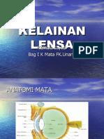 Kuliah Kelainan Lensa 2013