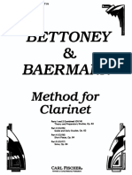 CBaermann Complete Clarinet Method, Op.64 Div.4 Bettoney Ed
