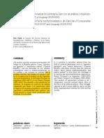 Identidades e Institucionalización Partidaria. Ejercicio de Análisis Comparado)Editado)