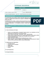Atividade Individual Gerenciamento de Projetos FGV