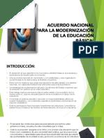 Acuerdo Nacional Para La Modernización de La Educación