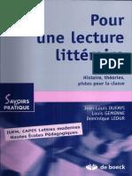Lecture Littéraire