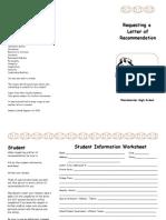 Brochure Letter of Rec
