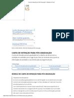 Carta de Intenção Para Pós Graduação – Modelos de Carta