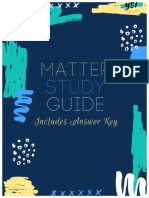 Matter Study Guide and Answer Key