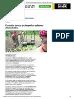 Ecuador Busca Proteger Los Saberes Ancestrales