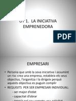 Ut 1. La Iniciativa Emprenedora Esquema