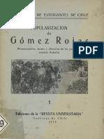 Popularización de Gómez Rojas