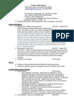 resume september 2018
