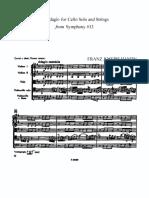 HAYDN Adagio for Cello Strings Symph. 13 SCORE PARTS