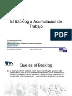 El Backlog o Acumulacion de Trabajo