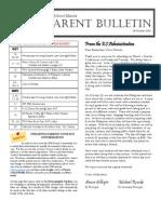 ES Parent Bulletin Vol#5 2010 Oct 8