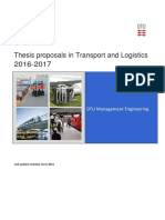 Transport and Logistics Thesis Proposals 2016 2017 271016 v1