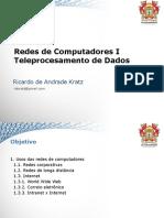 Aula 01 - Redes/ TELEPROCESSAMENTO DE DADOS