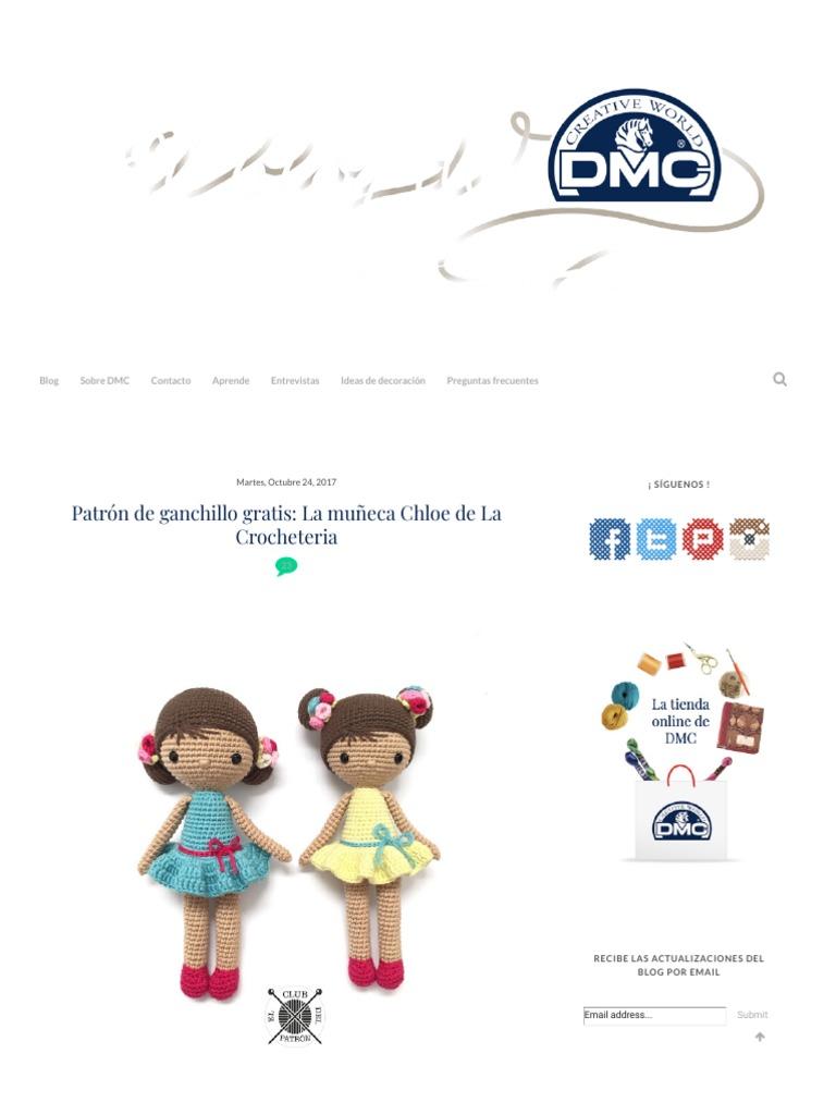 El Blog de Dmc_ Patrón de Ganchillo Gratis_ La Muñeca Chloe de La ...