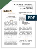 1ª Circular. III JAHP El Cuervo de Sevilla