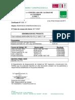Certificado calidad Codo moldeado ASTM HDPE PE 4710_3 pulg SDR 17 45°_09.10.17