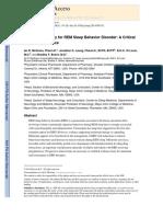 Melatonin Therapy for REM Sleep Behavior Disorder