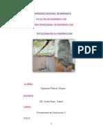Patologías en La Contrucción