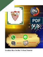 Prediksi Skor Sevilla VS Real Madrid 27 September 2018