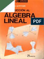 Algebra Linial de Howaed Anton